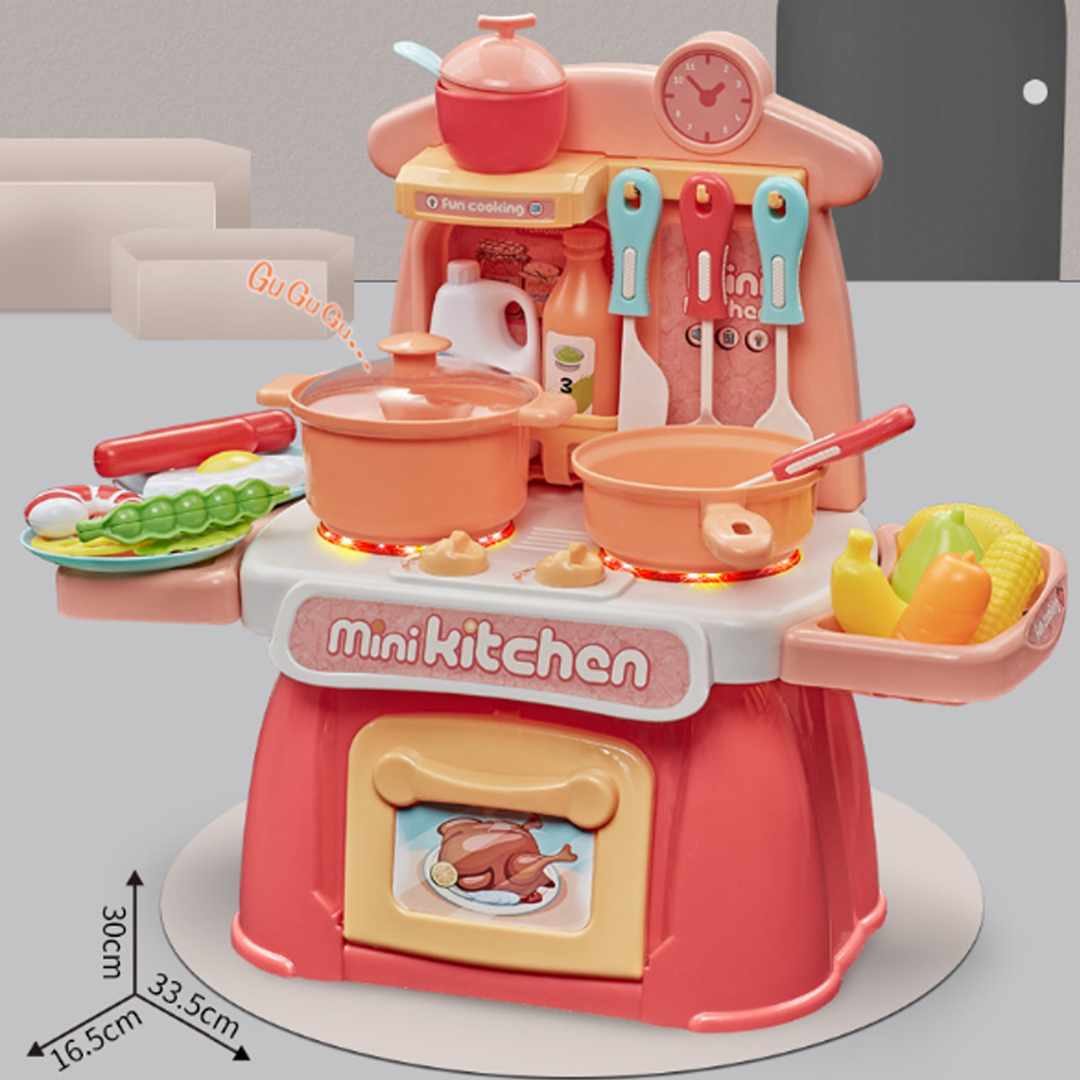 26 IN 1 Kitchen Playset Multifunctional Supermarket Table Toys for Children's Gifts - Photo: 7