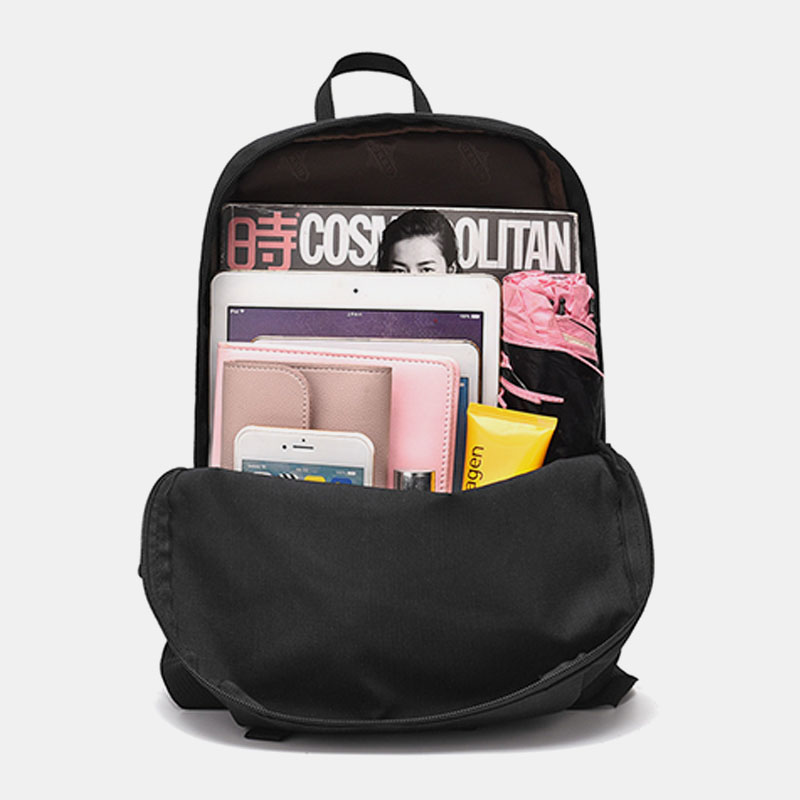 Men Women Casual Large Capacity Pure Color Backpack