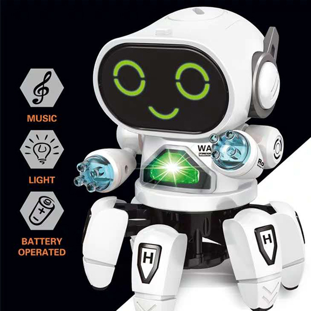 DIY 6-Legged Smart RC Robot Toy Sing Dance Robot Toy With Colorful Light - Photo: 3