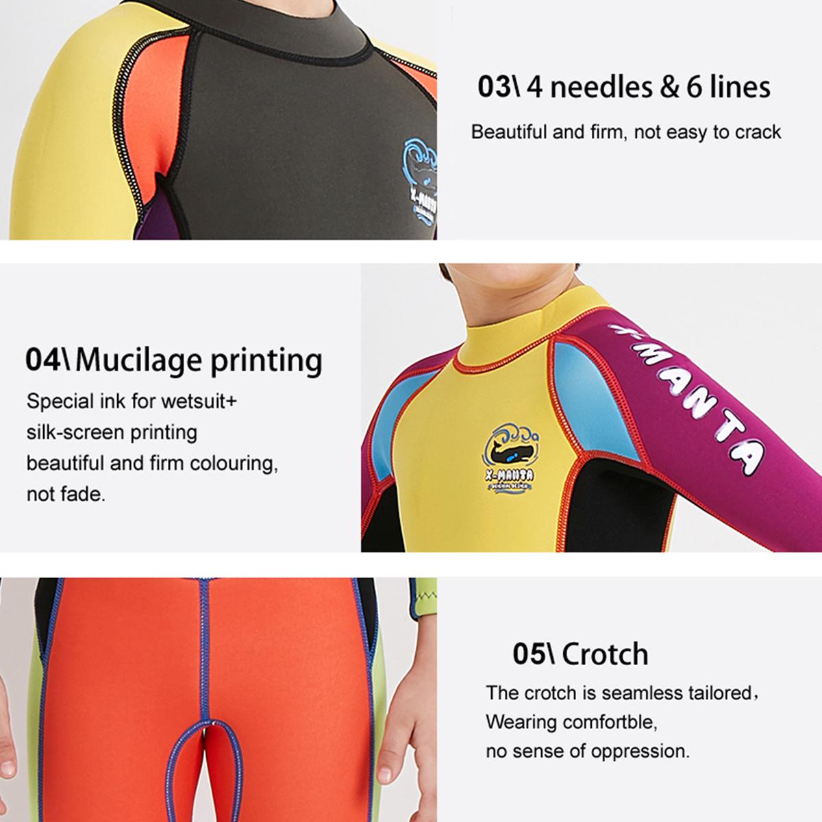 Kids Boy UV Protection Scuba One-piece Diving Suit