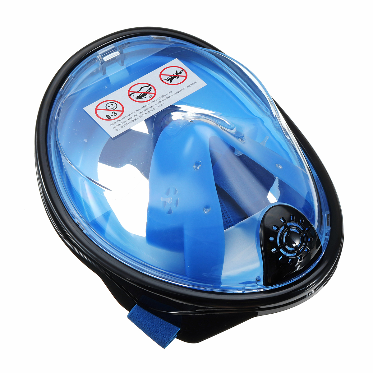 180° Viewing Area Full Dry Fog Resistant Snorkeling Mask