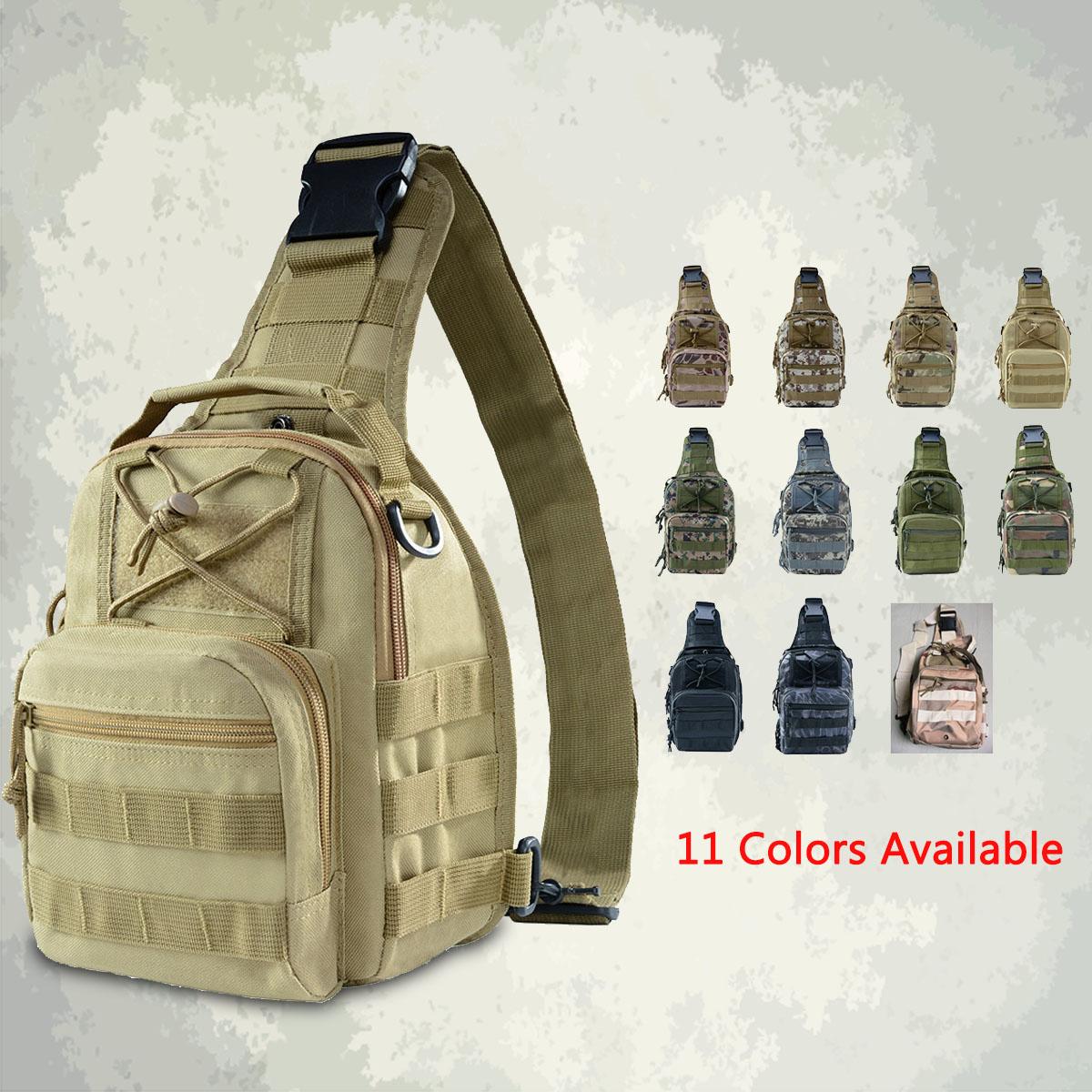 10L Men Outdoor Tactical Molle Backpack Assault Sling Bag Chest Shoulder Pack Camping Hiking
