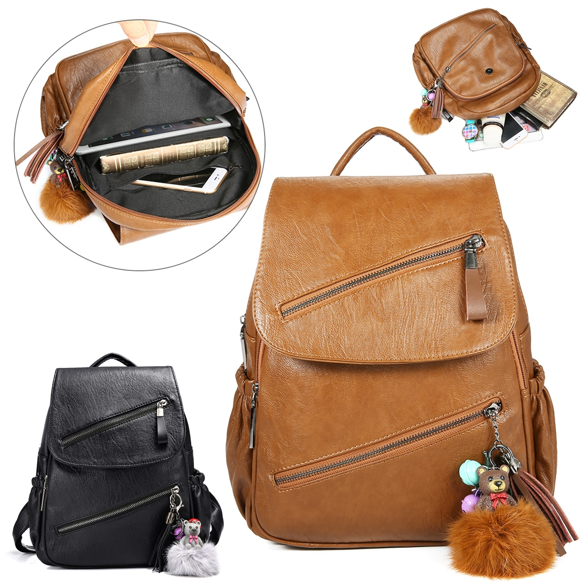 Women Waterproof Fashion Shool Bag Backpack Outdoor