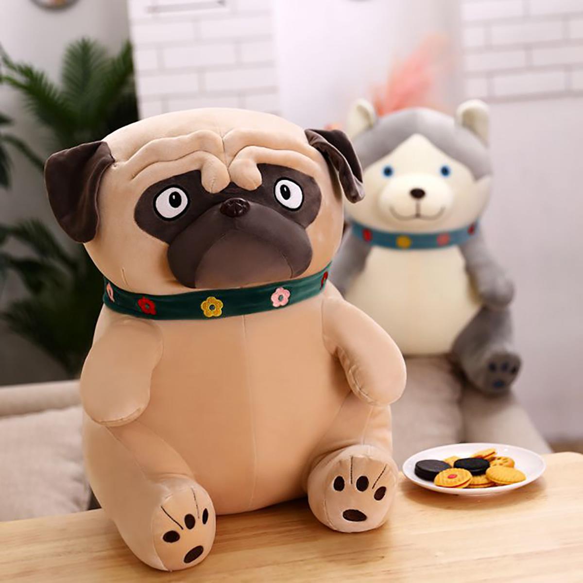 40-65CM Sand Dogs Doll Stuffed Simulation Dogs Plush Sharpei Pug Lovely Puppy Pet Toy Plush Animal Toy Children Kids Birthday Christmas Gifts - Photo: 2