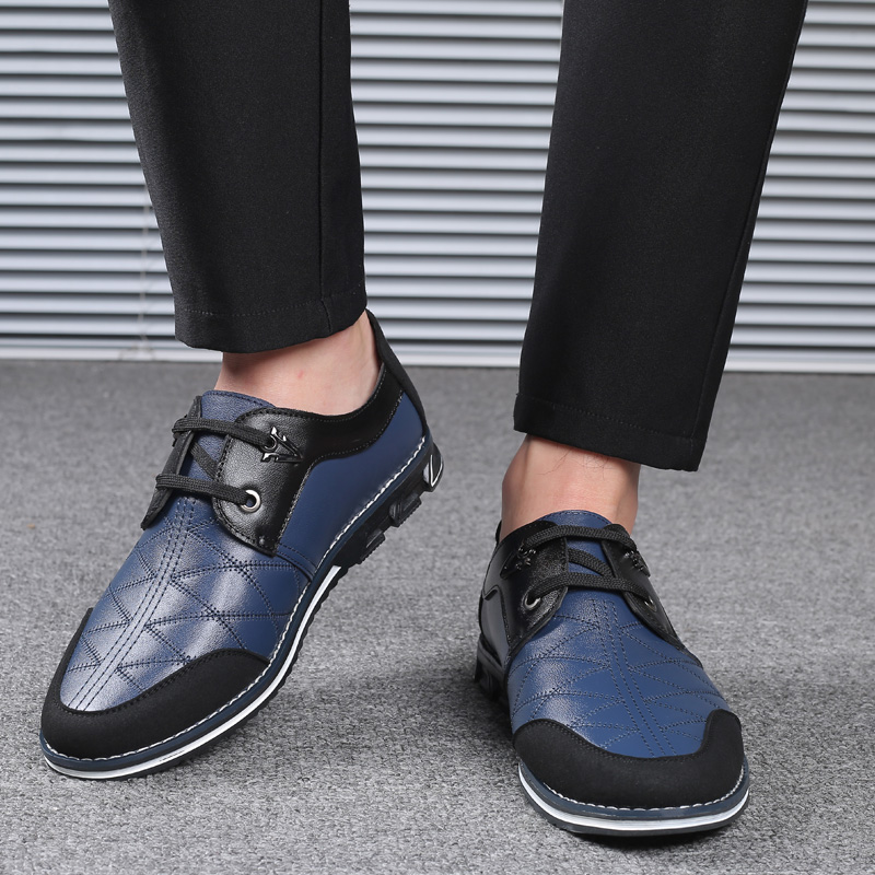 Genuine Leather Spicing Business Casual Oxfords