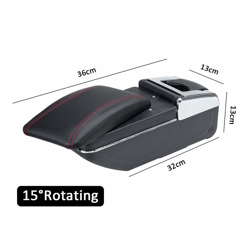 Kraft Box Packaging Black Perodua Myvi Armrest Box Car Storage Box
