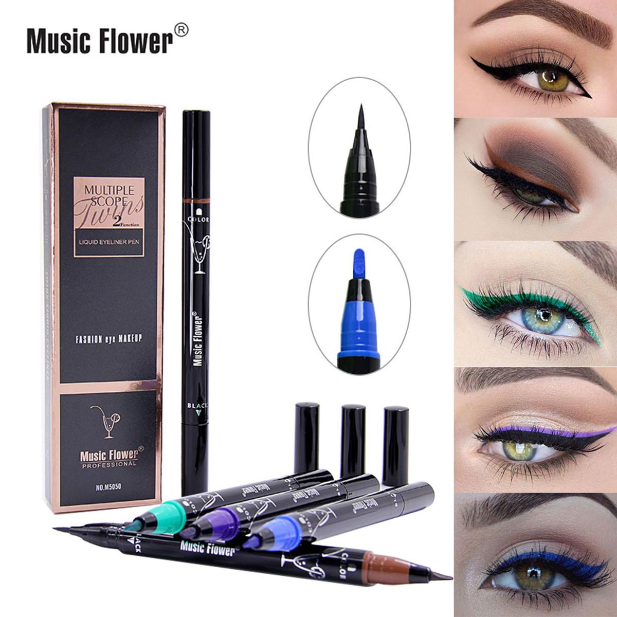 Music Flower Liquid Eyeliner Pencil Super Waterproof Black D