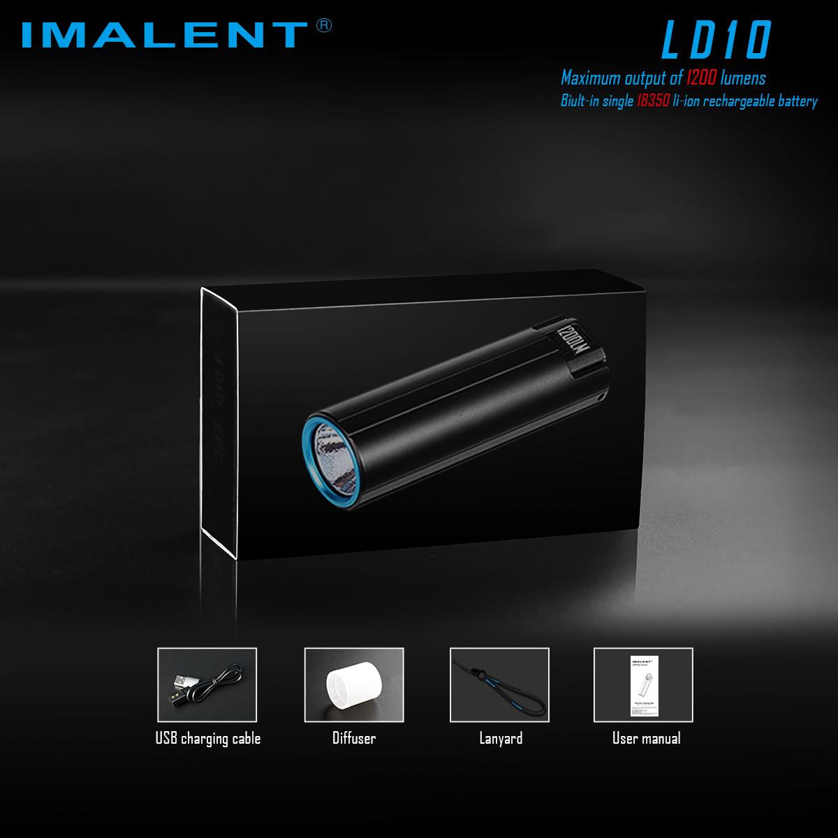 IMALENT LD10 XPL HI 5Modes 1200Lumens OLED Display Thumb-sized Keychain Flashlight