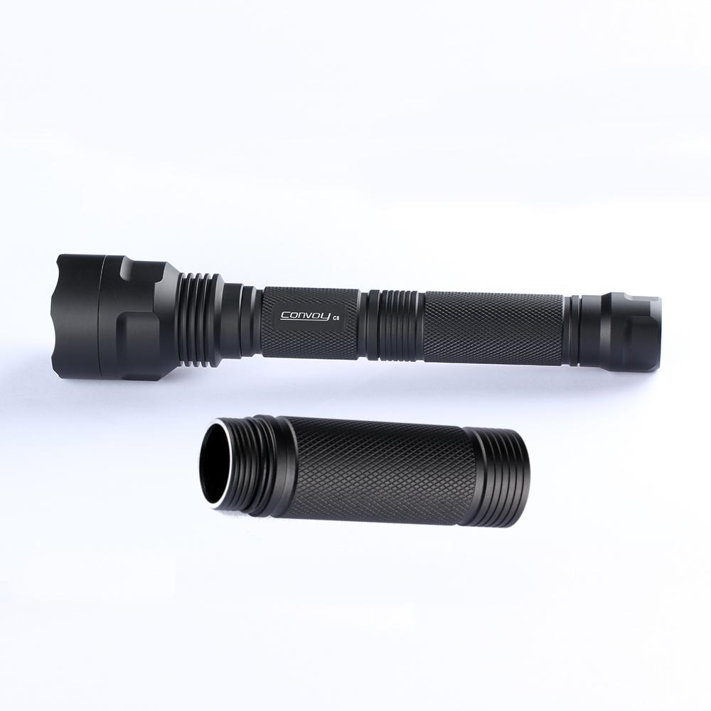 DIY Convoy C8 UV Flashlight Extension Body Tube For 1Pcs 18650 Battery