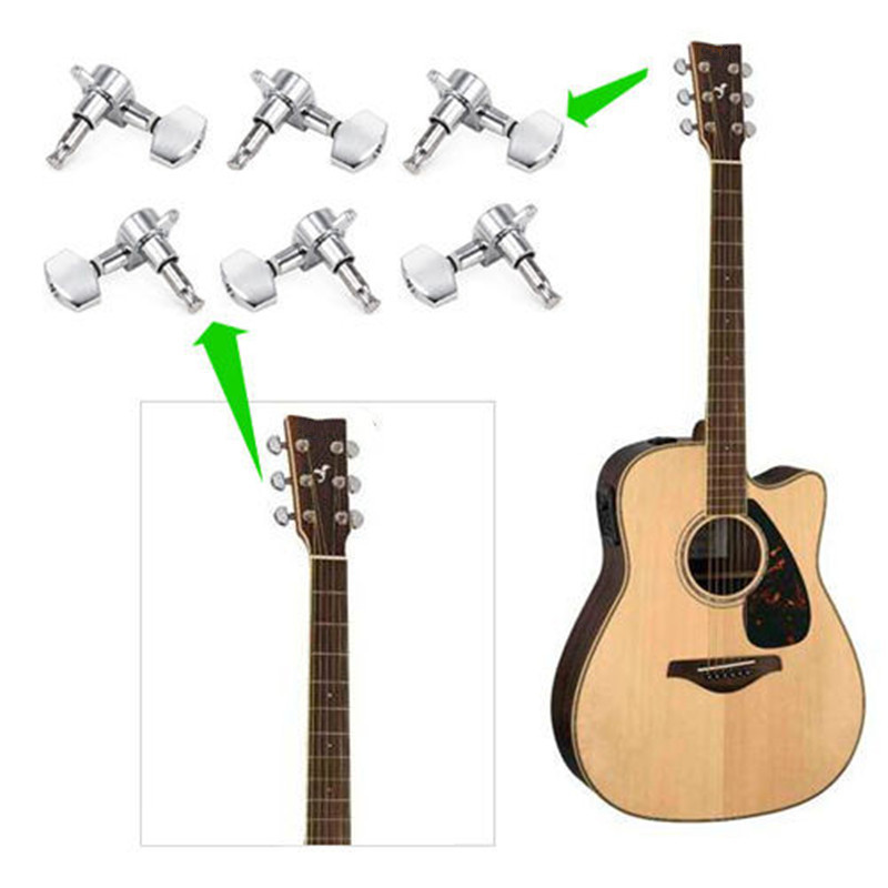 6Pcs Guitar String Tuning Pegs Tuners Machine Heads Acoustic Electric Guitar Part - Photo: 9
