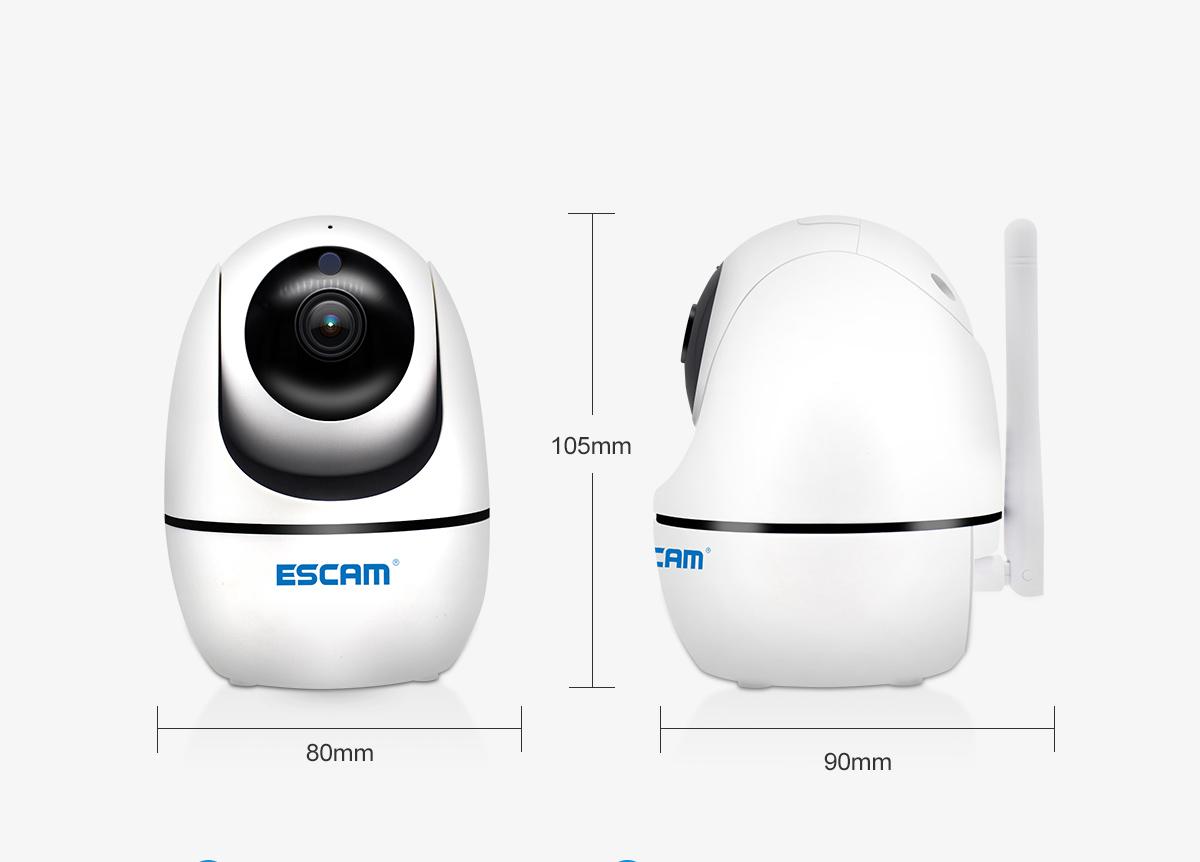 ESCAMPVR008H.265AutoTrackingPTZ Pan / Tile Camera 2MP HD 1080P Draadloze nachtzicht IP-camera
