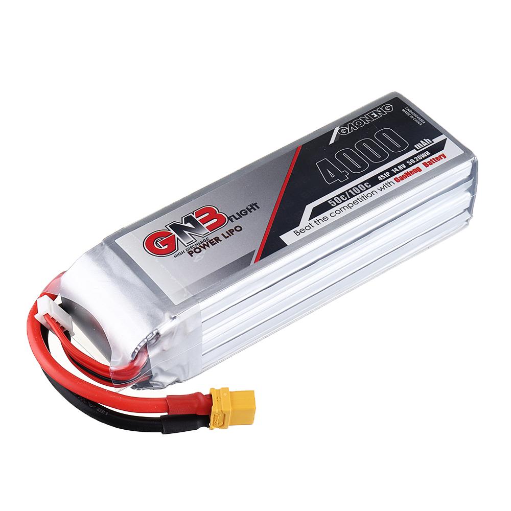 Gaoneng GNB 14.8V 4000mAh 50C 4S Lipo Battery XT60 Plug for RC Drone - Photo: 8