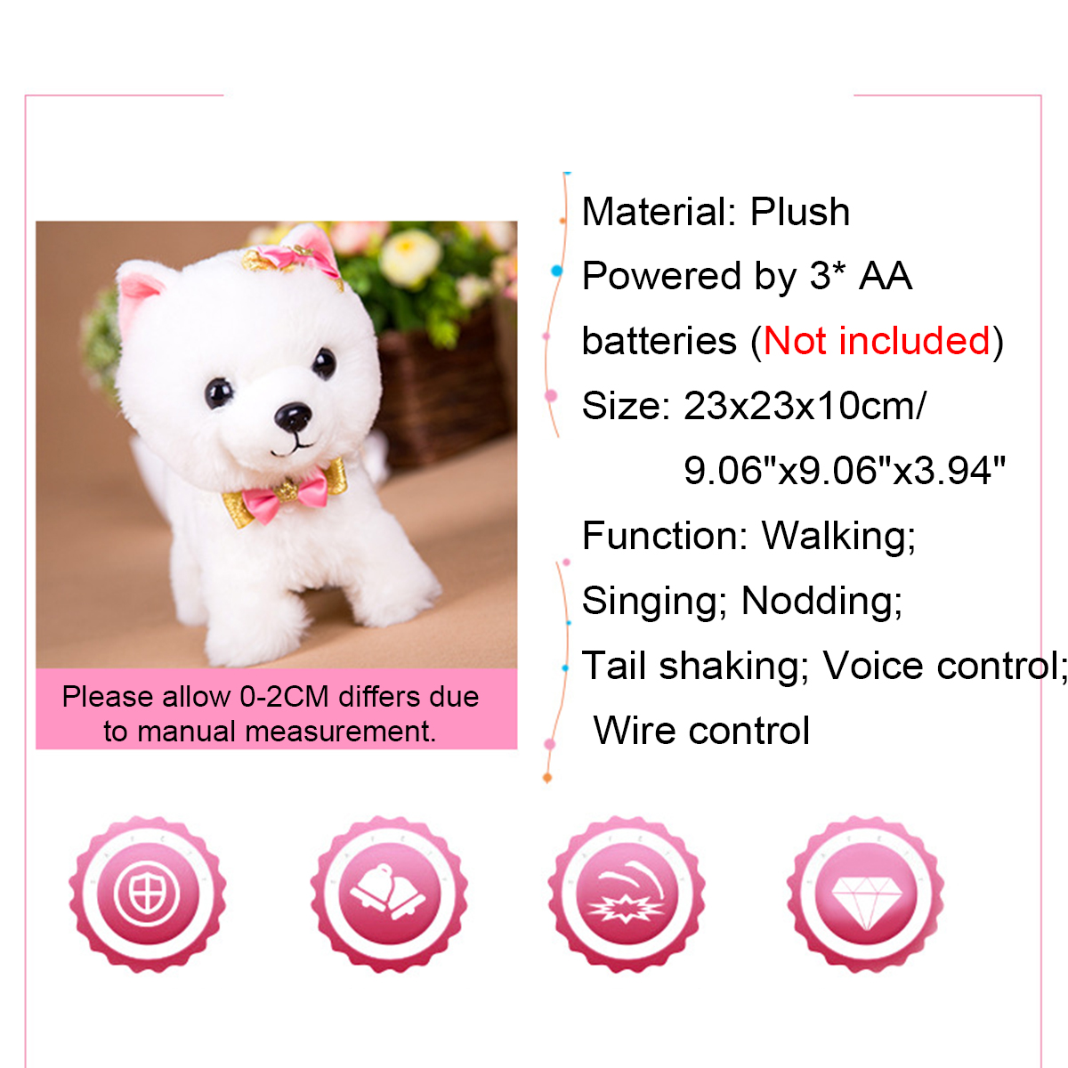 Simulation Dog Plush Electric Toy Dog Girl Gift Will Call Machine Electronic Puppy Toys - Photo: 2