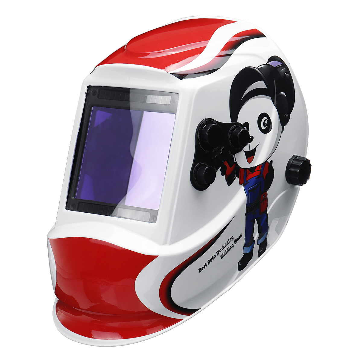 Panda Big Window 4 Sensors for External Adjustment Solar Automatic Dimming Welding Mask Welding Helmet Din5-Din13