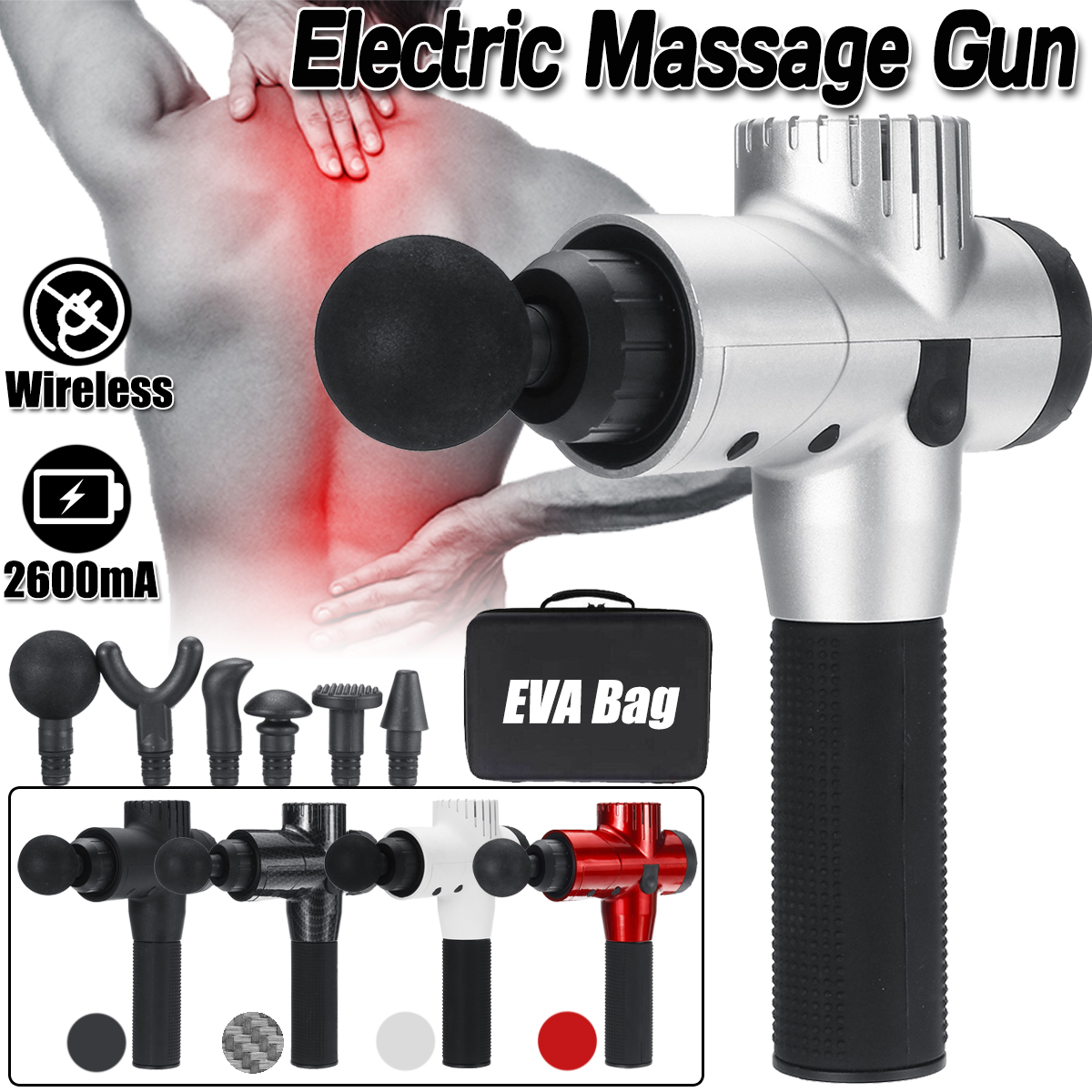 16.8V 2600mAh Muscle Massager 5 Speed Handheld Percussive