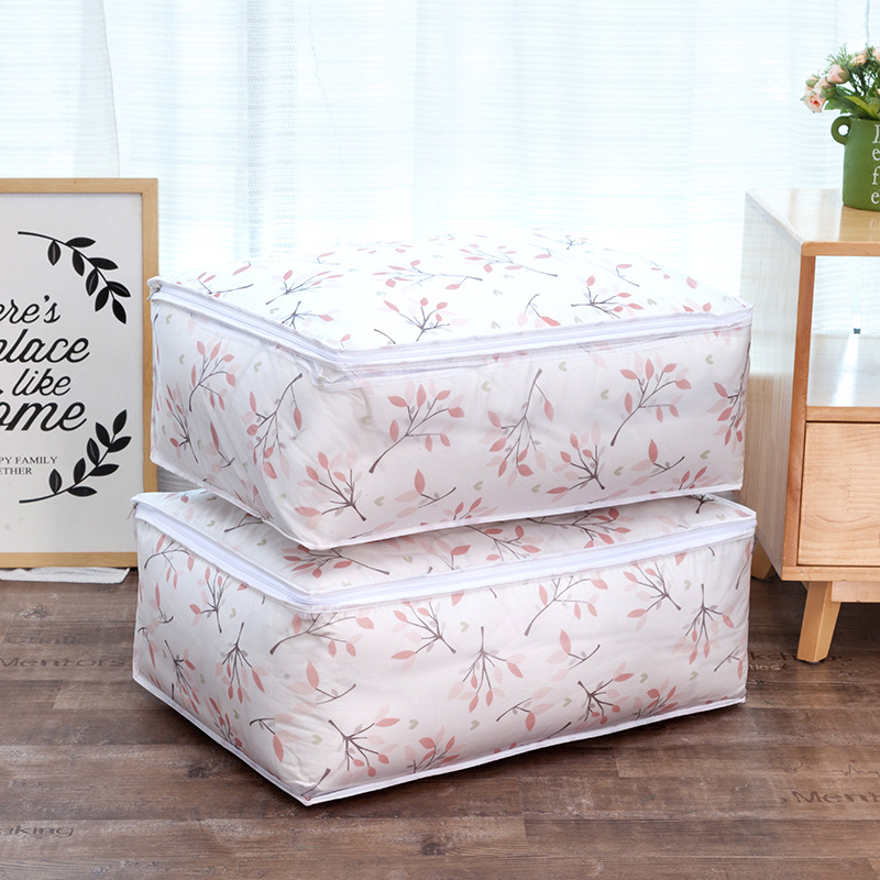 Folding Washable PEVA Quilts Storage Bags Portable House-moving Container Clothes Storage Bag