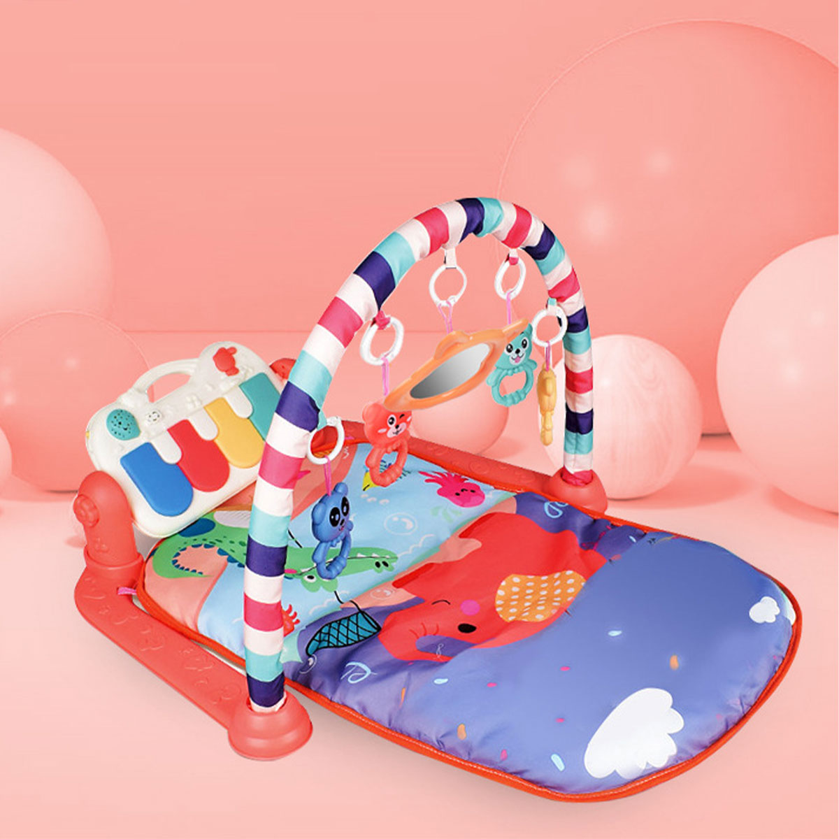 Delicate 3 In 1 Baby Infant Gym Play Mat Fitness Carpet Music Fun Piano Pedal Educational Toys