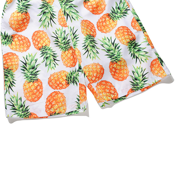 Creative Pineapple Printing Summer Casual Beach Board Shorts