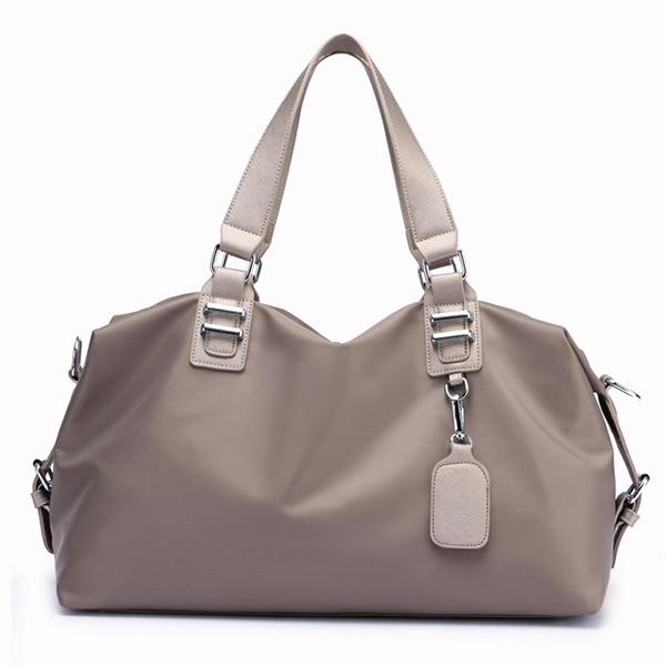 Details: Material Nylon Color Black.Gray,Purple Weight 820g Length 43CM(16.92') Height 29CM(11.41') Width 17CM(6.69') Handle Height 18CM(7.08') Pattern Solid Inner Pocket Main Pocket,Phone Pocket,Card Pocket,Zipper Pocket,Back Pocket Closure Zipper Packag #handbag