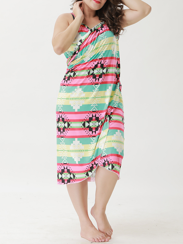 Plus Size Multi-way Wear Sun Protection Cover-Ups