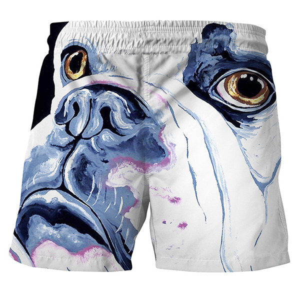 3D Dog Creative Printing Summer Leisure Beach Board Shorts f