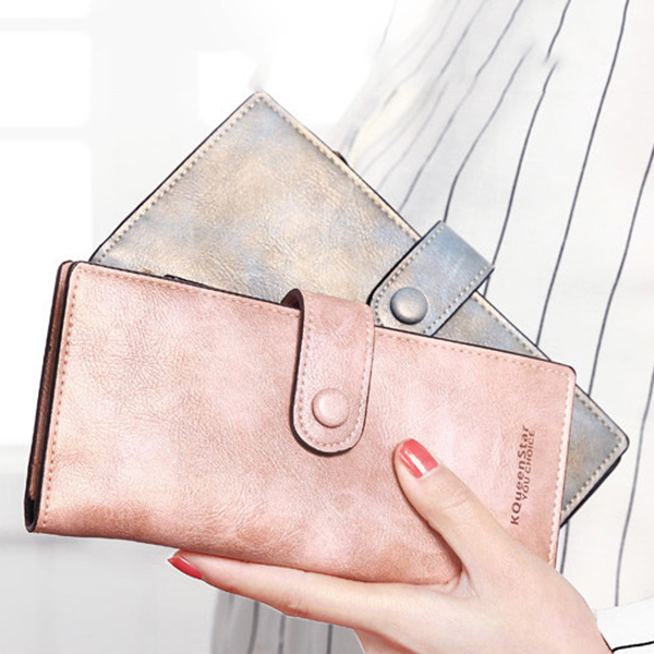 Women PU Leather Ultrathin Wallet Purse Business Card Holders