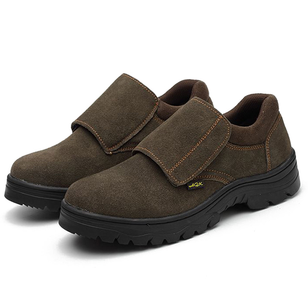 Comfy Men Wear Resisitant Outsole Hook Loop Outdoor Working Shoes