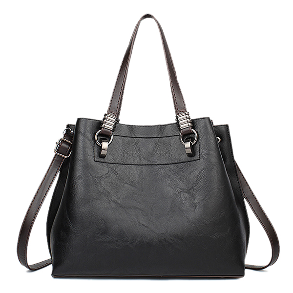 Women PU Leather Large Tote Bag Retro Crossbody Bag