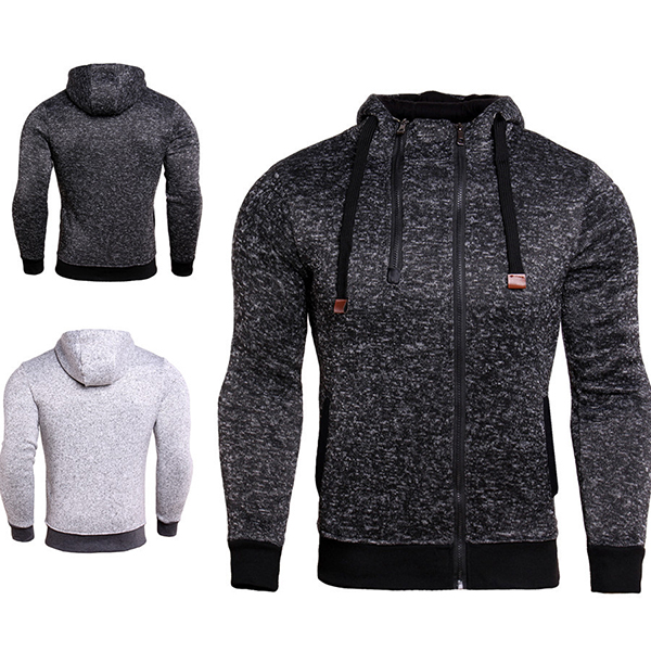 JACK CORDEE Leisure Double Zipper Hoodies