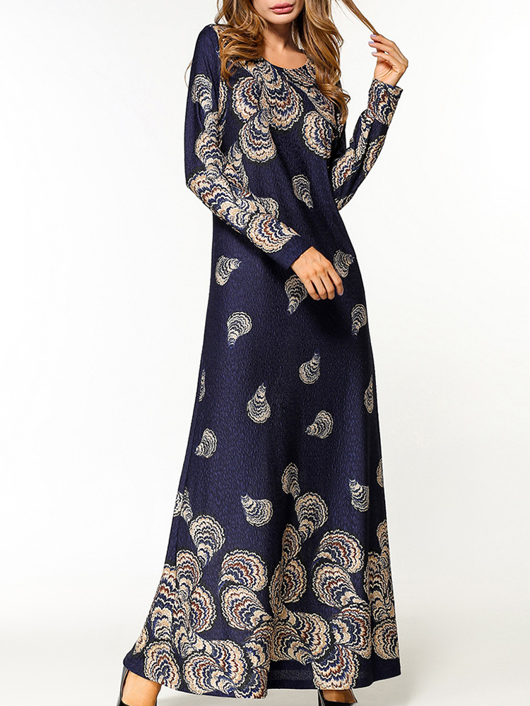 Slim Women Printed Maxi Dress