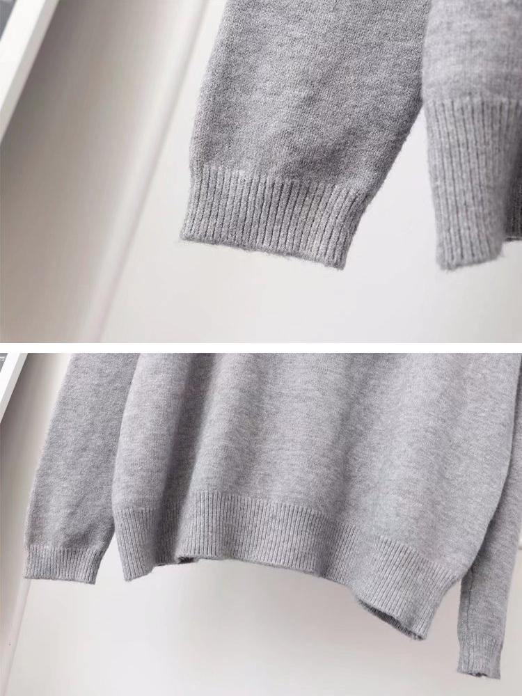 Plus Size Casual Women Swan Sweater