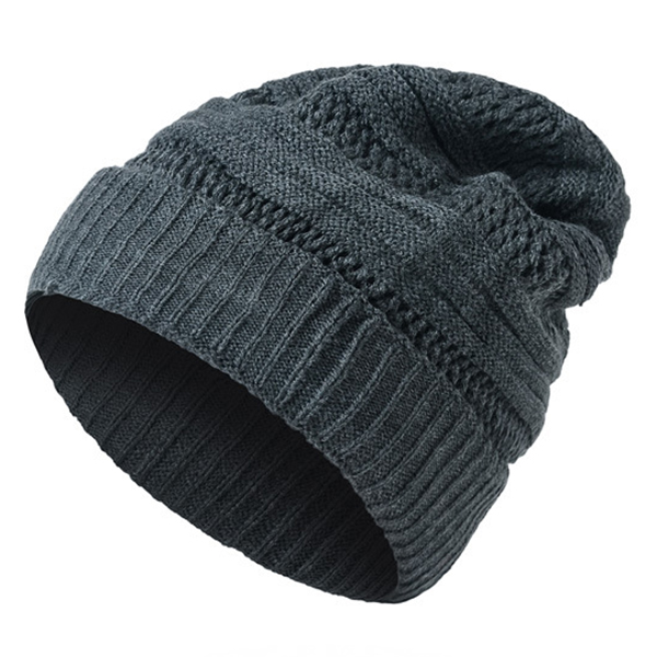 Mens Warm Soft Knitted Beanies Hats Solid Outdoor Skullies Bonnet Hat