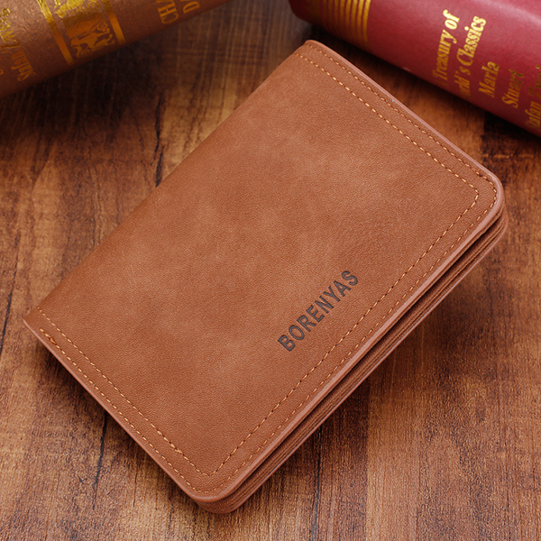 Men Short Soft Durable Fashion Zipper Pocket Coin Bag Wallet