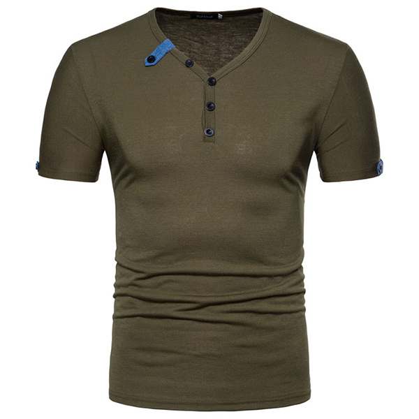 Solid Color Top Tees Stylish T-shirts for Men