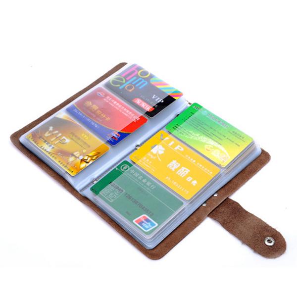 Unisex Fashion Genuine Leather 96 Card Slots Large Capacity Card Holder