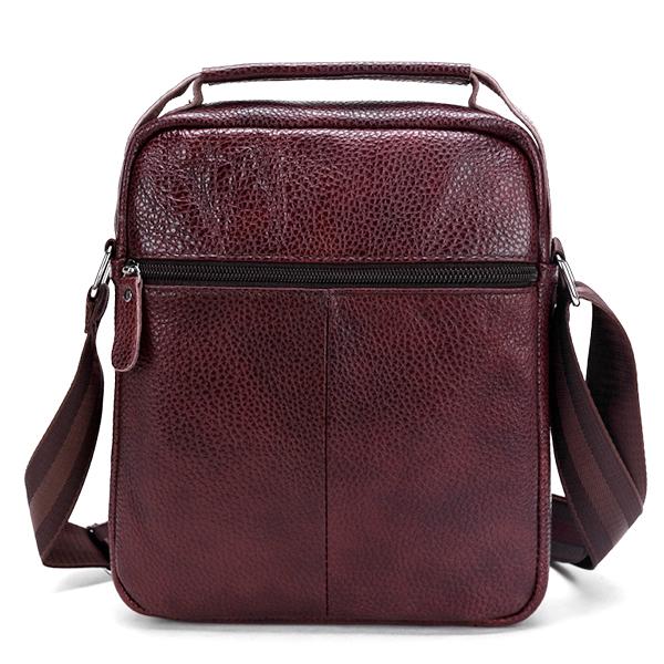 Men Genuine Leather Multifunctional Shoulder Crossbody Bag