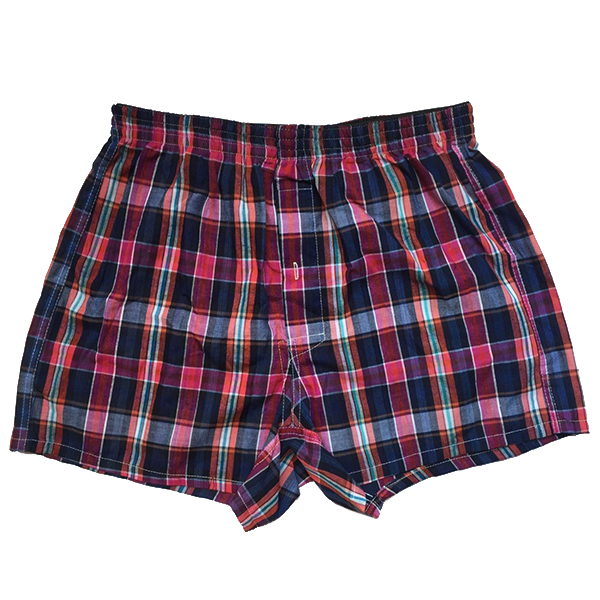 Mens Plaid Checkered Cotton Comfy Homewear Board Shorts