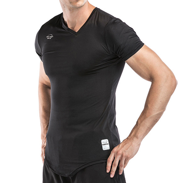 Men's Quick Dry Breathable Short Sleeved Sports T-shirts Fitness Body Building Tops