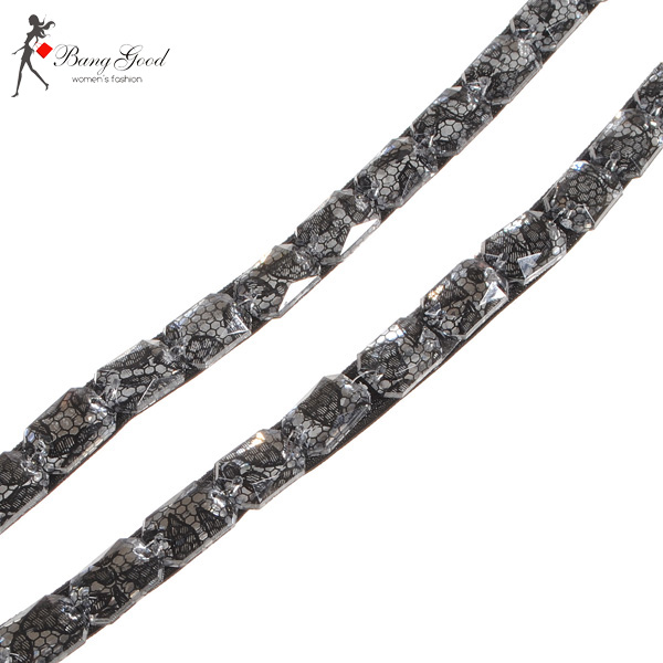 Unique Snake Skin Plastic Granular Crystal Beads Bra Shoulder Straps