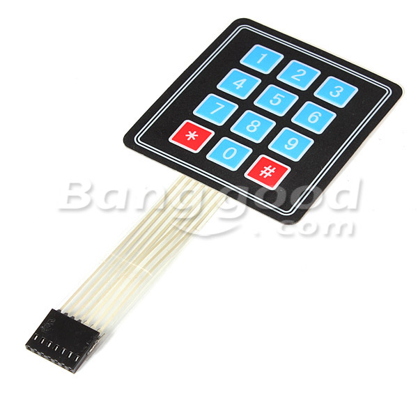 3Pcs 4 x 3 Matrix 12 Key Array Membrane Switch Keypad Keyboard For Arduino