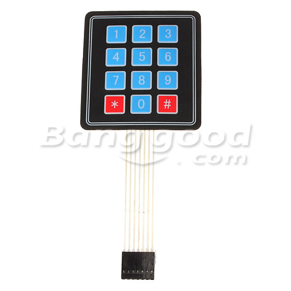 4 x 3 Matrix 12 Key Array Membrane Switch Keypad Keyboard For Arduino