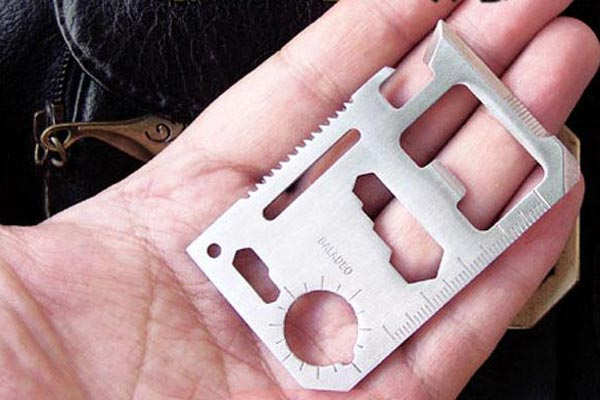 IPRee Tactical Mini EDC Knife Card Life-saving Multifunctional Tool Card Outdoor Survival