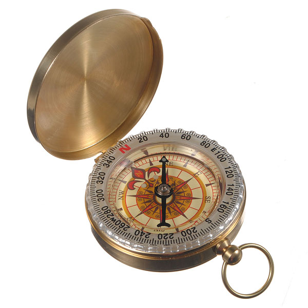 Outdoor Camping Hiking Compass Brass Survival Pocket Compass