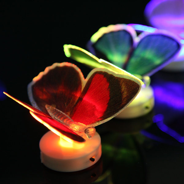 Changing Fiber Optic LED Flashing Butterfly Light Gift