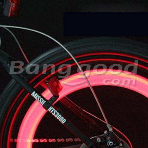 Bike Bicycle 3 Modes Tire Wire Tyre Bright Wheel Spoke Taillight