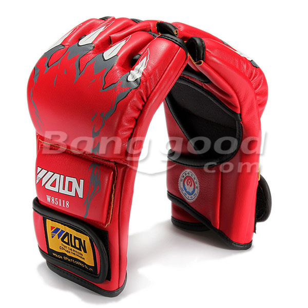 MMA Sparring Grappling Boxing Fight Punch Leather Mitts Gloves