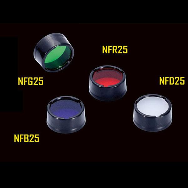 NITECORE NFR25 NFB25 NFG25 NFD25 Diameter 25mm Multicolor Filter (Flashlight Accessories