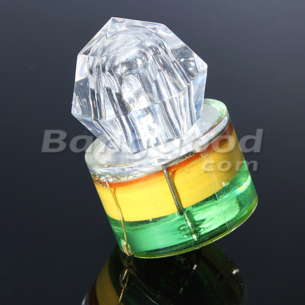 LED Diamond Fishing Bait Light Lure Squid Strobe