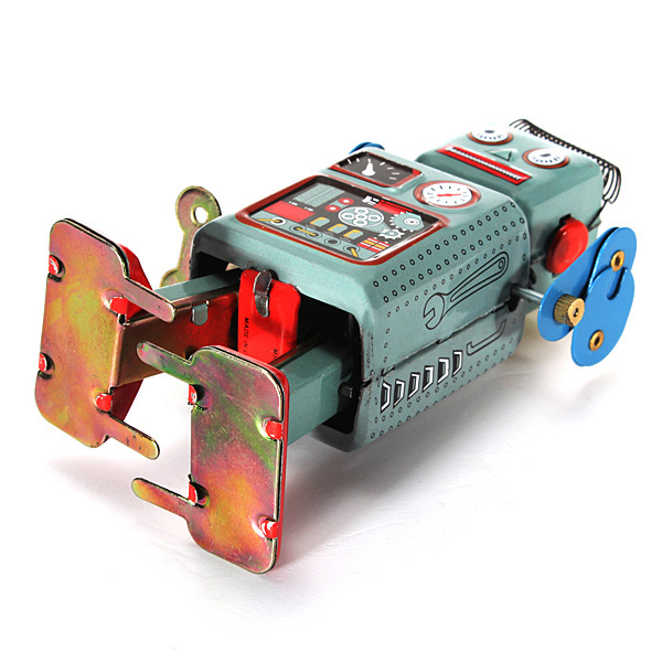 Clockwork Windup Metal Walking Tin Toy Robot Retro Kids Gift