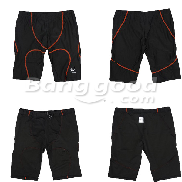 Black Swimming suit Swimming Goggles and Hat SET for Men